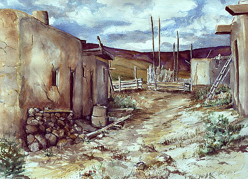 Taos Pueoblos lll   by Jackie Langford
