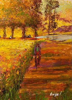 Tardesita en bici by Angel Ortiz