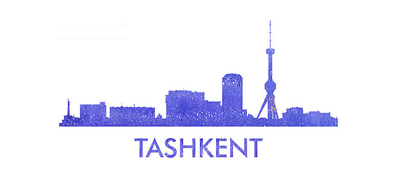 Vyacheslav Isaev - Tashkent  city purple skyline