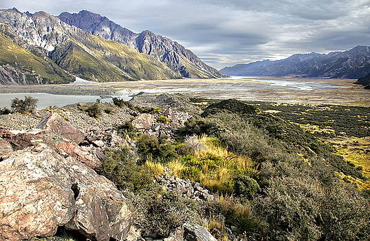 Tasman Valley from Tasman Lake, New Zealand by Martin Wackenhut