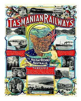 Peter Gumaer Ogden - Tasmanian Railways Poster  1905 II J. M. Proctor