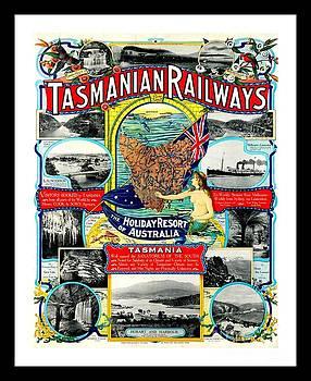 Peter Ogden - Tasmanian Railways Poster by J. M. Proctor 1905