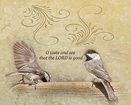 Taste and See Chickadees by TnBackroadsPhotos