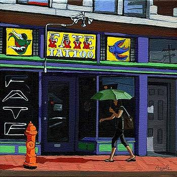 Tattoo Shop by Linda Apple