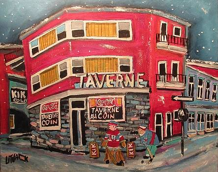 Taverne Au Coin Faubourg a M'lasse 1963 by Michael Litvack