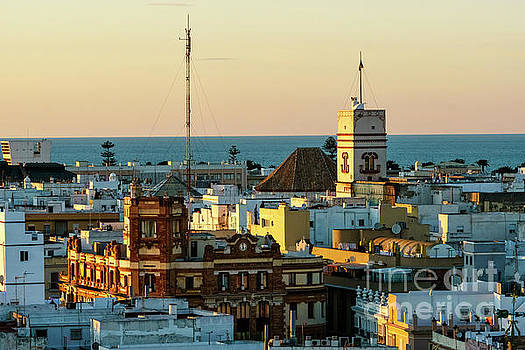 Tavira Tower and Post Office from West Tower Cadiz Spain by Pablo Avanzini