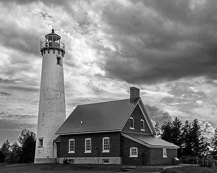Tawas Point Lighthouse - B-W by Tom Clark