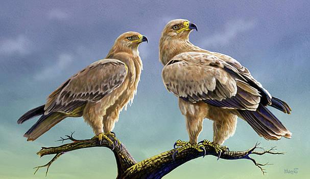 Tawny Eagles by Anthony Mwangi