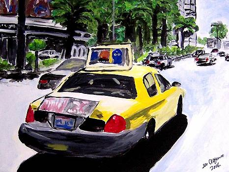 Taxi at the Las Vegas strip by Teo Alfonso
