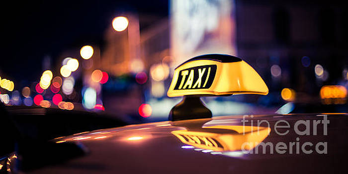 TAXI - blue by Hannes Cmarits