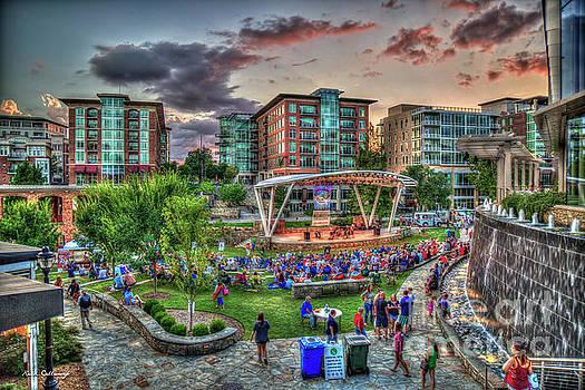 Reid Callaway - TD Stage Concert Night Reedy River Falls Park Greenville South Carolina Art
