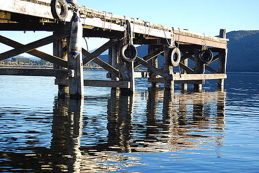 Te Anau Pier by Jocelyn Friis