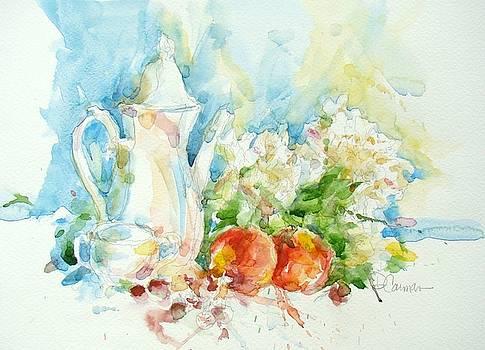 Tea and Peaches by Deborah Carman