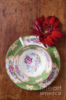 Tea Cup and flower by Edward Fielding