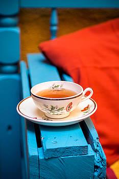 Tea In A Old Tea Cup by Elly De vries