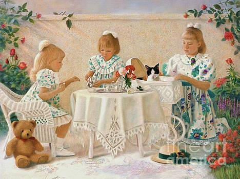 Tea in the Rose Garden by Nancy Lee Moran