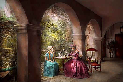 Mike Savad - Tea Party - Sharing tea with Grandma 1936