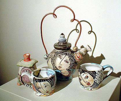 Tea Set by Kathleen Raven