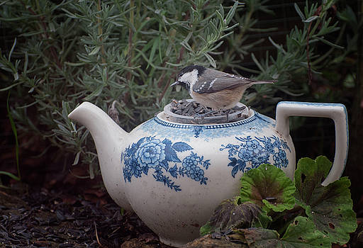 Tea Time in the Garden version two by Suesy Fulton