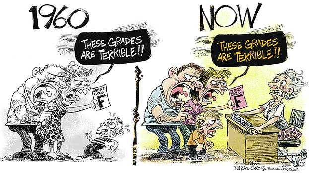 Teachers Then and Now by Daryl Cagle