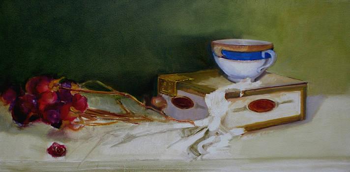 Teacup and Roses by Kathleen Hoekstra