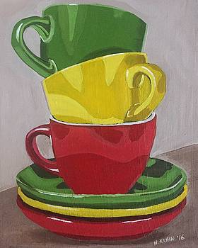 Teacups by Helen Kuhn