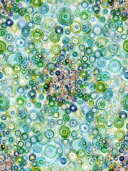 Teal And Olive Concavity by Regina Valluzzi