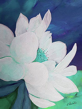 Teal Flower Close Up by Ruth Palmer