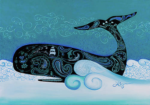 Teal Paisley by Theresa LaBrecque