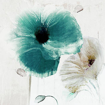Teal Poppies by Mindy Sommers