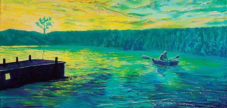 Teal Sunset at Lake Norris by Sean Koziel