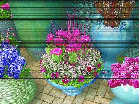 Teal vases by Renee Antos