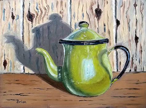Teapot on a shelf by Brian Van der Spuy