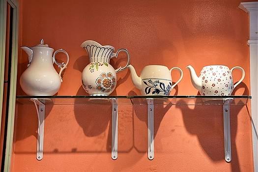Teapots at Morning Buns by Kim Bemis