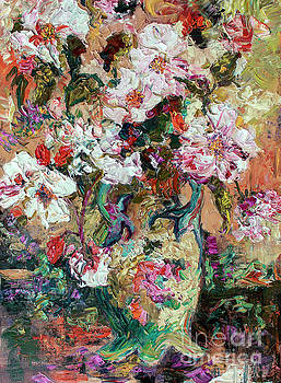 Ginette Callaway - Tearoses Impressionist Oil Painting