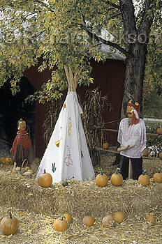 Tee Pee In Fall by Richard Nickson