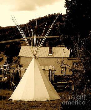 Teepee in Montana by Karen Francis