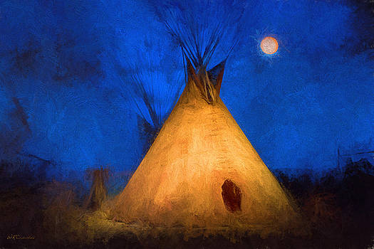 Teepee in Moonlight by Wade Crutchfield
