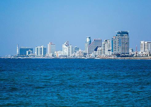 Eliza Donovan - Tel Aviv Skyline in Blue
