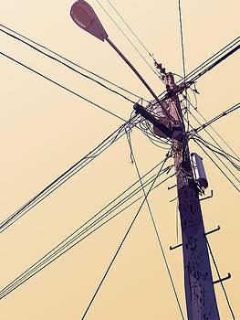 Telephone Pole - Horizon by David Lange