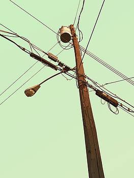 Telephone Pole - Nebula by David Lange