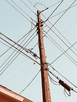 Telephone Pole - November by David Lange