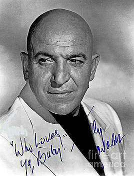 Pd - Telly Savalas Autographed Photograph