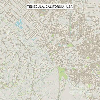 Temecula California US City Street Map by Frank Ramspott