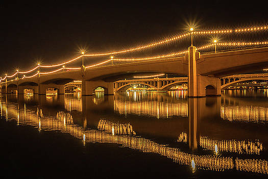 Rosemary Woods-Desert Rose Images - Tempe Town Lake at Night-img_127116
