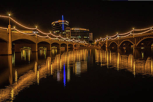 Rosemary Woods-Desert Rose Images - Tempe Town Lake at Night-img_125916