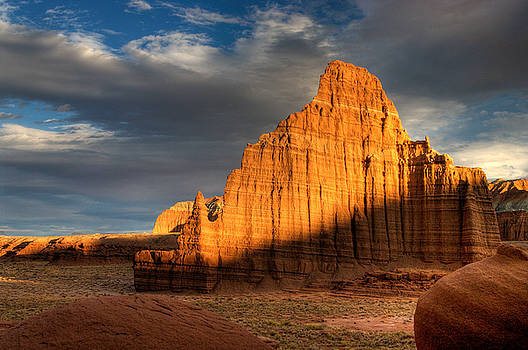 Temple of the Moon in Lower Cathedral Valley by Jeff Clay