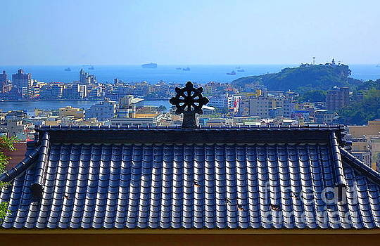 Temple Roof and Kaohsiung Port by Yali Shi
