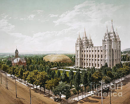 Temple Square Salt Lake City Utah 1899. by Art Revisited