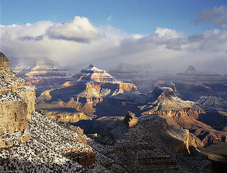 Temples with Snow by Mike Buchheit